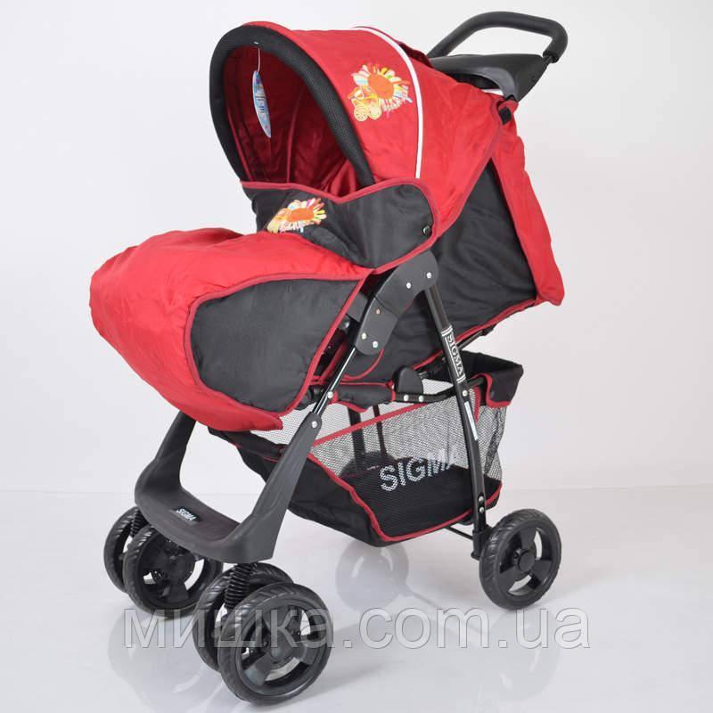 Детская коляска Sigma S-K-5AF Red-black