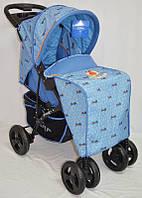 Детская прогулочная коляска Sigma YK-8F голубая
