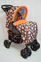 Детская прогулочная коляска Sigma YK-8F оранжевая