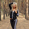 Женский спортивный костюм Adidas триколор 4 цвета, 42,44,46