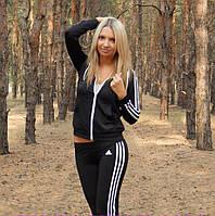 Женский спортивный костюм Adidas триколор 4 цвета, 42,44,46, фото 1