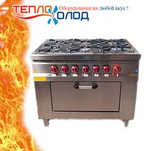 Плита 6-ти конфорочная с духовым шкафом и газовым контроллером Pimak МО15-6