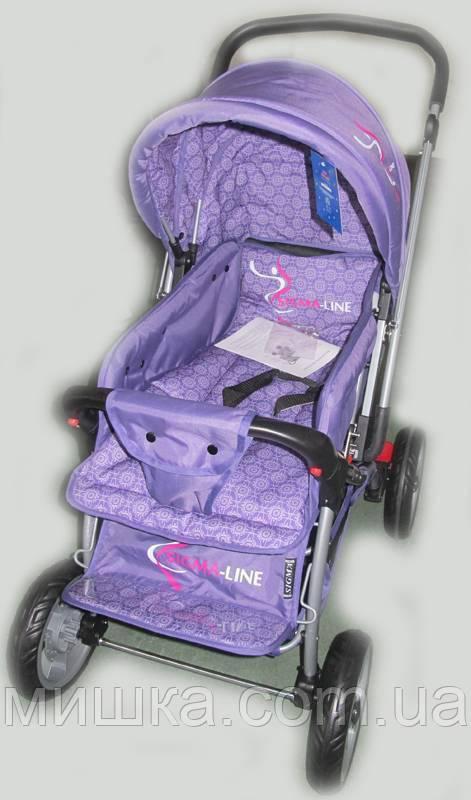 Прогулочная детская коляска Sigma H-538EF фиолетовая