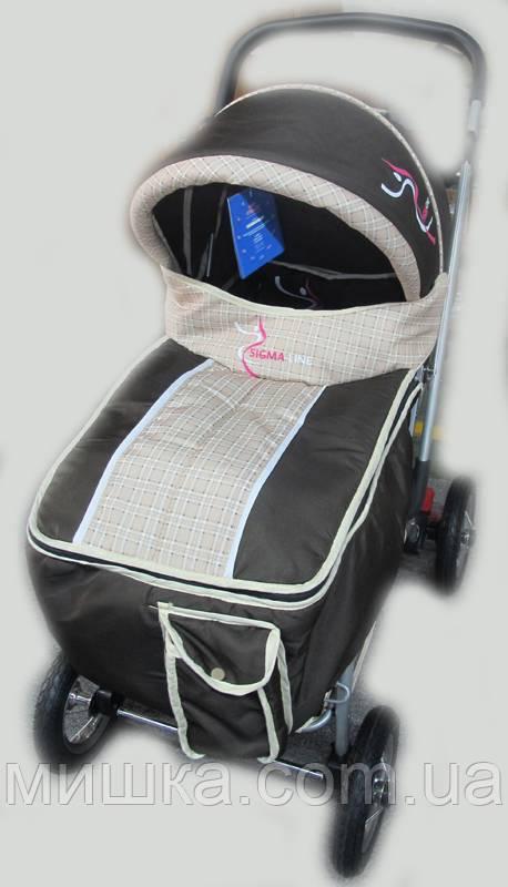 Прогулочная детская коляска Sigma H-538AF (надувные колеса) черная