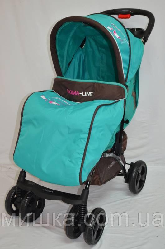 Детская прогулочная коляска Sigma YK-10F бирюза
