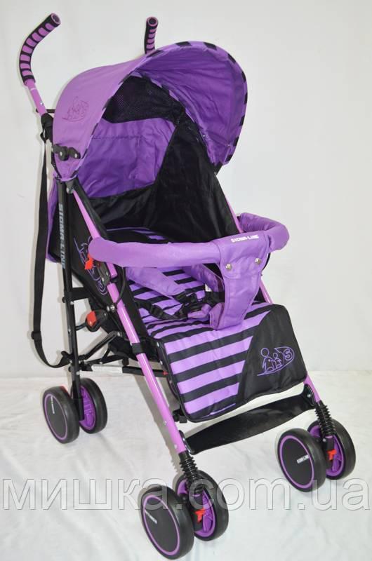 Детская прогулочная коляска Sigma BYW-312 фиолетовая