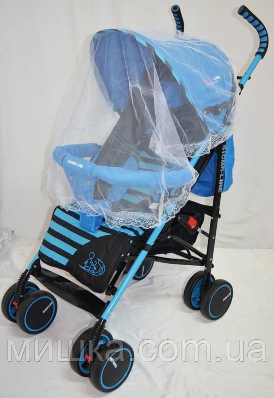 Детская прогулочная коляска Sigma BYW-312 синяя