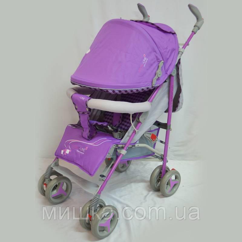 Детская прогулочная коляска Sigma BYW-308 фиолетовая