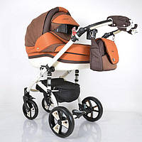 """Всесезонная детская коляска 2 в 1 """"MACAN"""" Orange-Brown"""