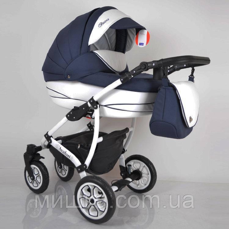 """Всесезонная детская коляска 2 в 1 """"AVALON BUENO"""" Blue-white"""