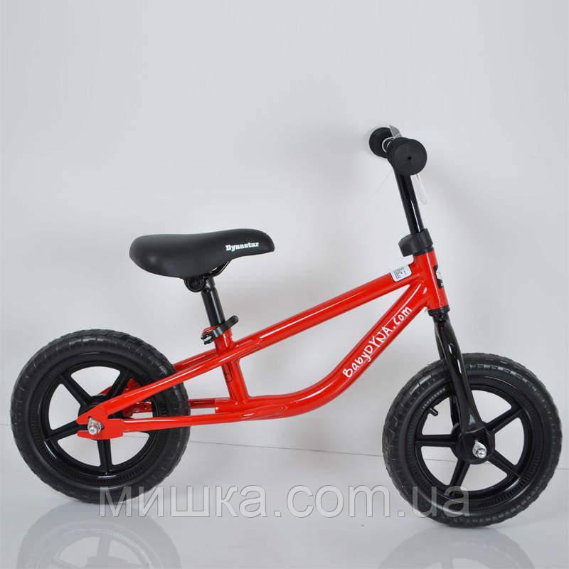 """Детский стильный беговел 12""""(BRN)B-2 Red Eva wheels"""