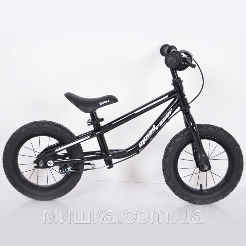 """Дитячий беговел 12""""(BRN)B-2 Black Air wheels"""