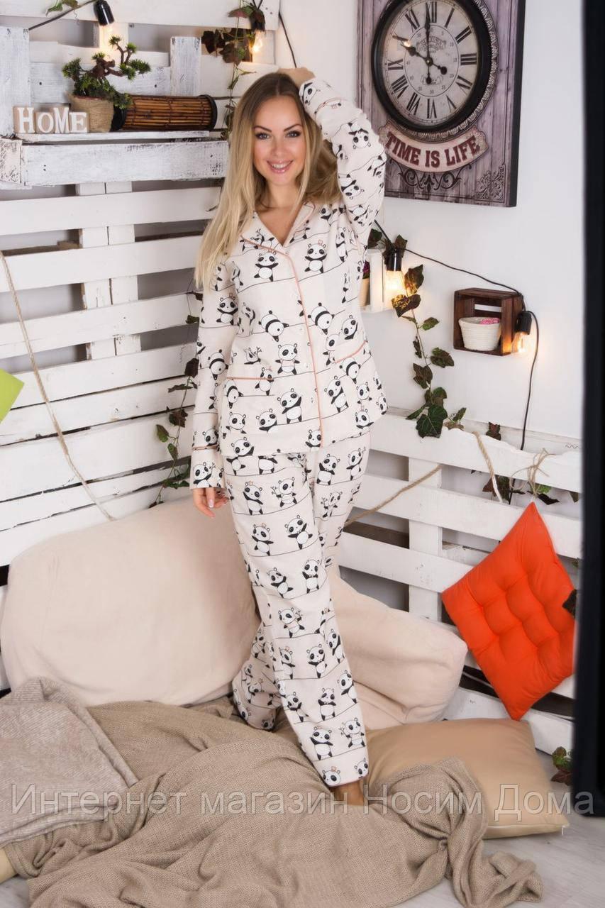 0d0da98aeb18 ... Теплый байковый костюм с пандами, пижама натуральный хлопок П611, ...