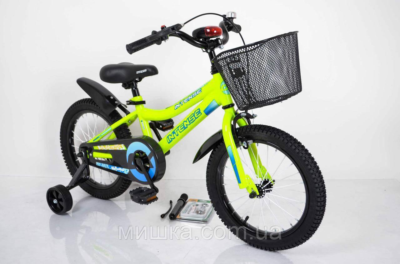 """Велосипед INTENSE 16"""" N-200 салатовый-неон Sigma"""