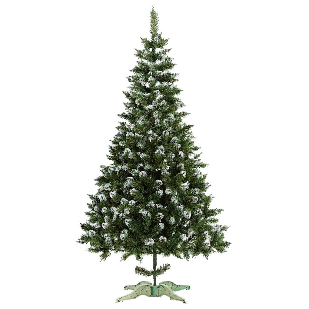 Ель искусственная новогодняя Сказка Зеленая с Белыми кончиками 500см БК-5,00