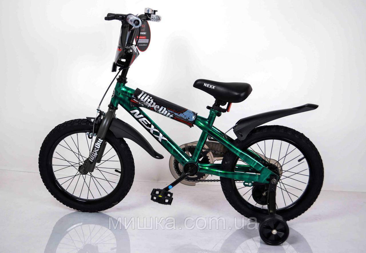 """Велосипед детский """"NEXX BOY-16"""" Зеленый-Сплэш"""