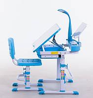 Комплект парта 80см + стілець + НАСТІЛЬНА ЛАМПА + підставка для книжок, 3 кольори, фото 1