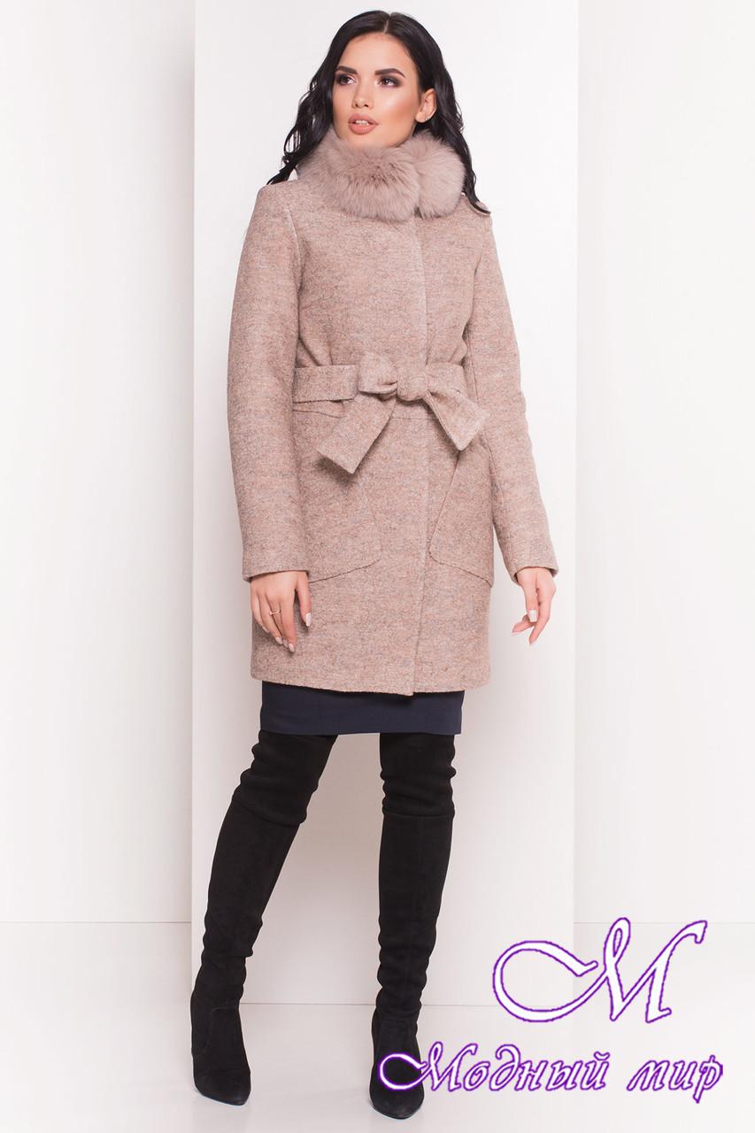 Зимнее женское пальто с песцом (р. S, М, L) арт. Габи 3602 - 38095