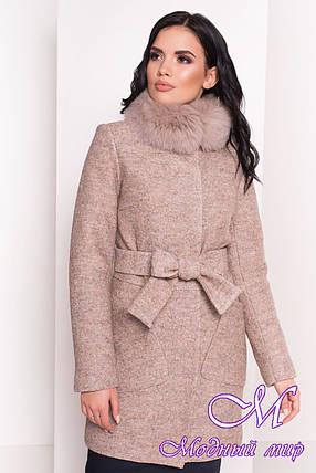Зимнее женское пальто с песцом (р. S, М, L) арт. Габи 3602 - 38095, фото 2