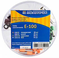 Набор кабельных трубчатых (втулочных) изолированных наконечников E - 100