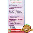 Лів-Ап (Indian Pharmaceutical), 100 пігулок - Аюрведа преміум якості, фото 2
