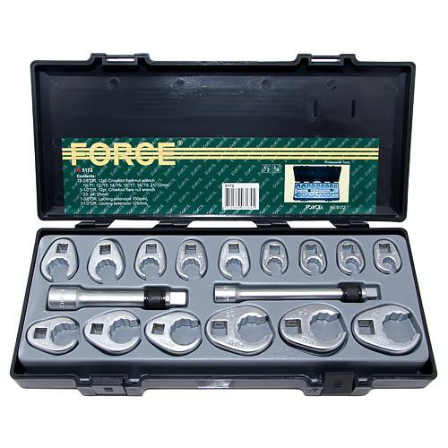 Набор разрезных ключей односторонних 17 пр. (10-26 мм., Кроуфут) FORCE 5172