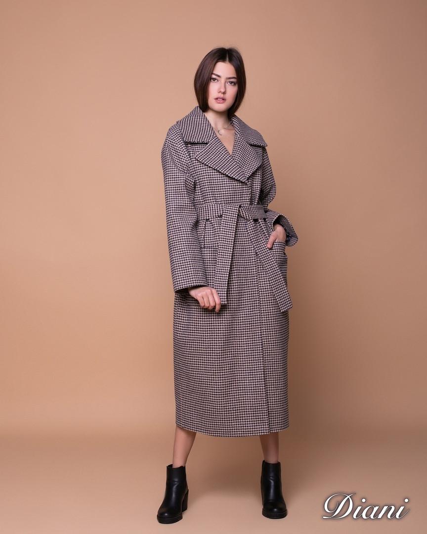 Пальто оверсайз длинное под пояс 1402144