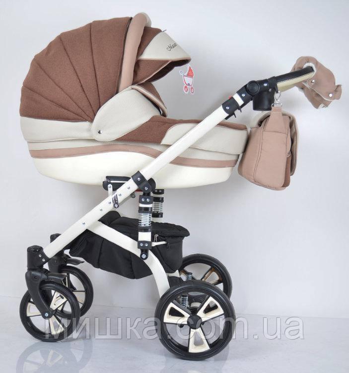 Всесезонна дитяча коляска 2 в 1 MACAN White-Brown