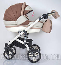 """Всесезонная детская коляска 2 в 1 """"MACAN"""" White-Brown"""