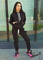 Утепленный женский спортивный костюм с худи 705496, фото 1