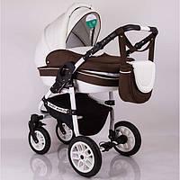 "Универсальная детская коляска 2 в 1 ""Baby Marlen"" White Brown"