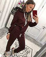 Женский спортивный костюм из стеганного трикотажа с худи 3305497, фото 1