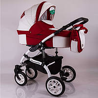 "Универсальная детская коляска 2 в 1 ""Sherry Lux"" White Red"