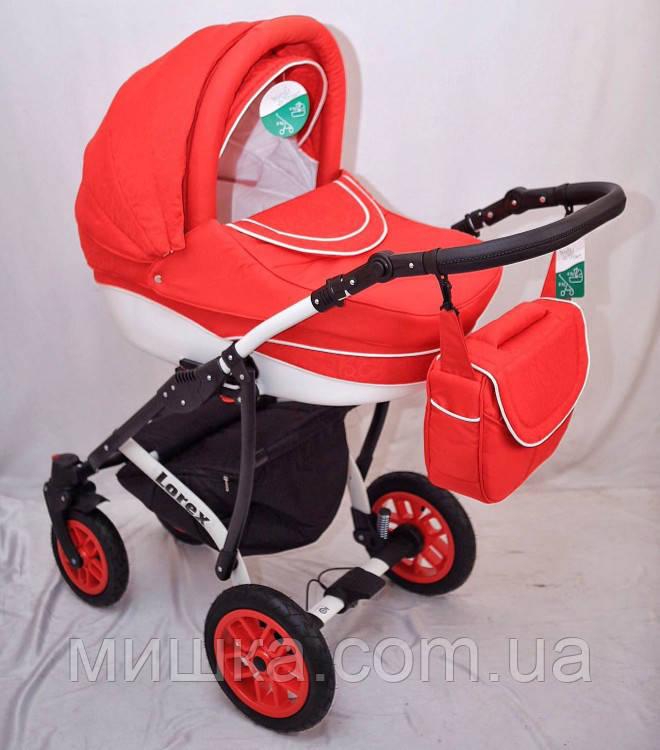 """Универсальная всесезонная детская коляска 2 в 1 """"Lorex"""" red"""