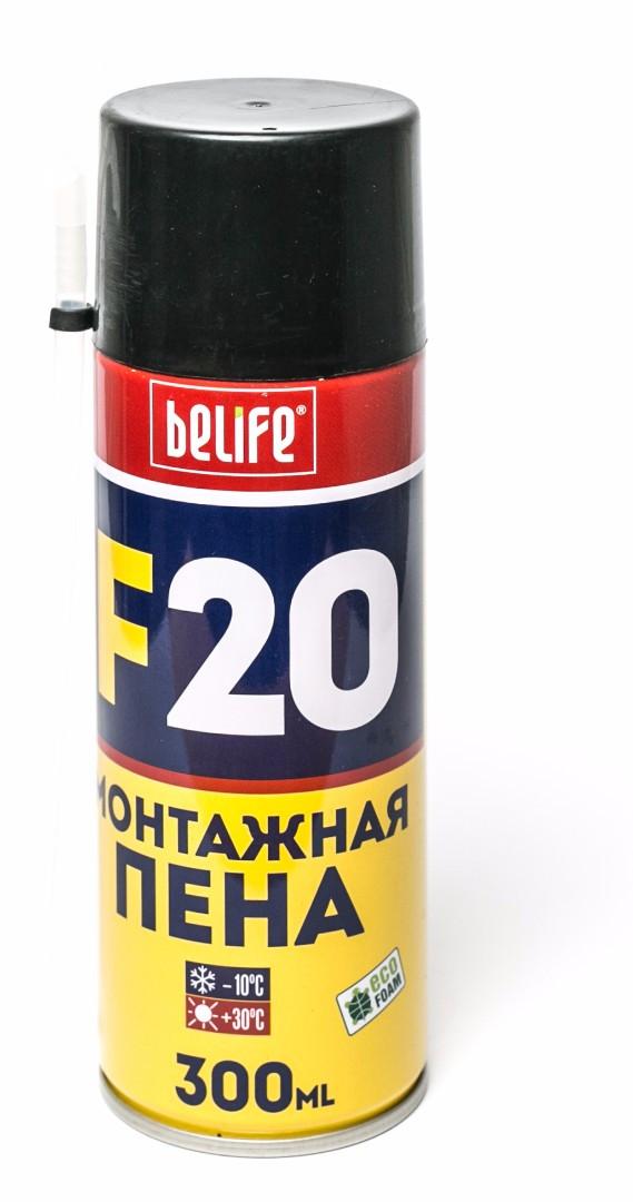 Побутова монтажна піна BeLife F20 300мл вихід 25л (F20)