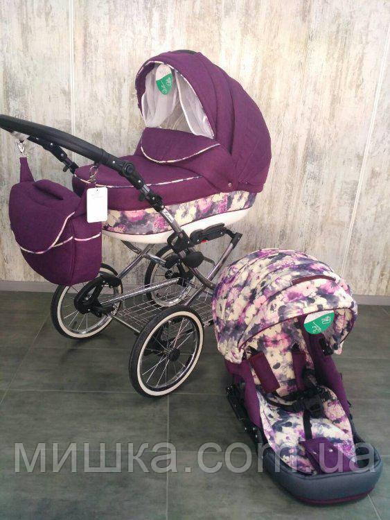 Універсальна багатофукціональна дитяча коляска Adamex Katrina текстиль 2 в 1
