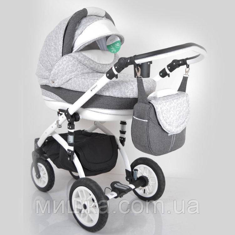 """Универсальная всесезонная детская коляска 2 в 1 """"Elegance"""" Grey"""