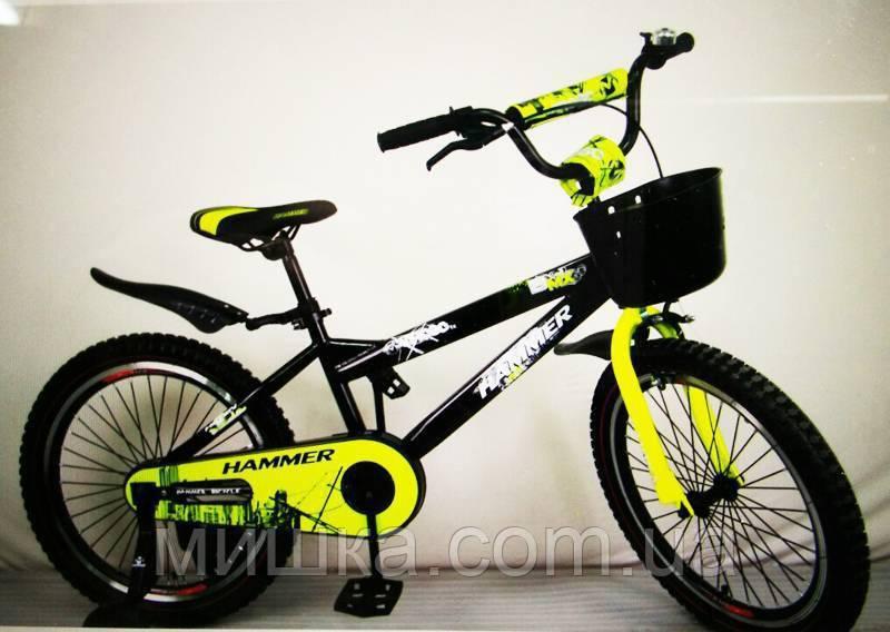 """Велосипед детский  20"""" S600 черно-желтый"""