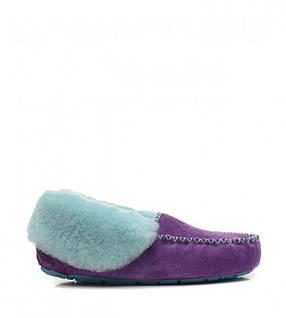 Женские зимние мокасины UGG Grunge - Purple дакота фиолетовый