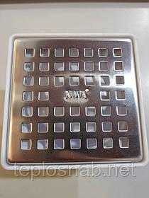 Трап сливной нержавеющая сталь 10см x 10см выход прямой Ø50