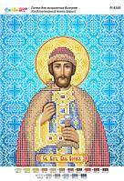 """Схема для частичной вышивки бисером иконы """"Св.благоверный князь Борис"""""""