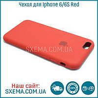 Чехол накладка для iPhone 6/6S силиконовый Silk Silicone Red, фото 1