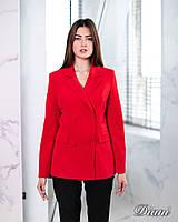 Женский пиджак двубортный однотонный 1409166, фото 1