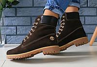 7ba437d3 Ботинки зимние женские в стиле Timberland код товара FS-2749. Коричневые