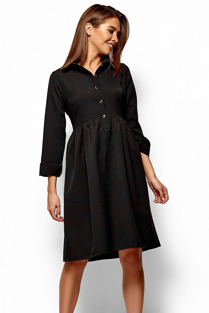 (S, M, L) Класичне чорне плаття-міді Trisha