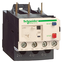 LRD01 - 3-полюсное тепловое реле перегрузки TeSys D на токи 0,10...0,16 А для защиты электродвигателей и сетей