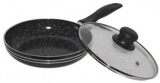 Сковорода з кришкою 26 см Edenberg EB-767, мармурове покриття