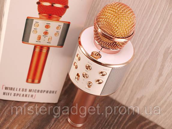 Микрофон для караоке WS-858 с Bluetooth Беспроводной , фото 2