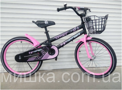 """Велосипед TopRider-01 20"""" розовый  детский двухколесный"""