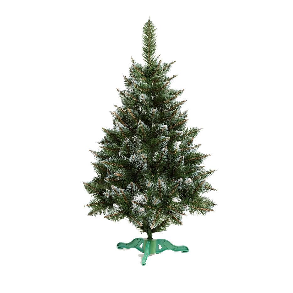 Ель искусственная новогодняя Рождественская Зеленая с Белыми кончиками 150см РБК-1,50
